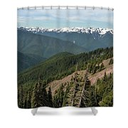 Hurricane Ridge View Shower Curtain