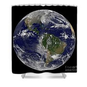 Hurricane Sandy Along The East Coast Shower Curtain by Stocktrek Images