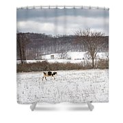 Hurry Up Shower Curtain