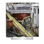 Husavik Boats Iceland 3741 Shower Curtain