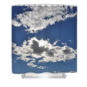 Huson River Clouds 1 Shower Curtain