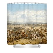 Hussars At The Battle Shower Curtain