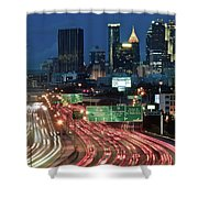 Hustle And Bustle Of Atlanta Roadways Shower Curtain
