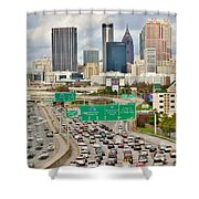 Hustle And Bustle On The Highways And Byways Shower Curtain