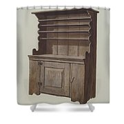 Hutch Dresser Shower Curtain