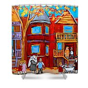 Hutchison Street Sabbath In Montreal Shower Curtain