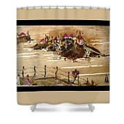 Huts And Temples On Hills Shower Curtain