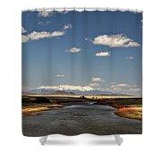Hwy 142 Rio Grande River Shower Curtain