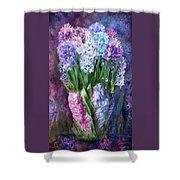Hyacinth In Hyacinth Vase 1 Shower Curtain