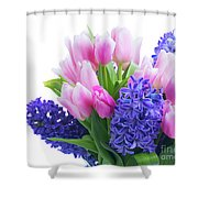 Hyacinths And Tulips  Shower Curtain