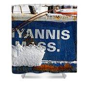 Hyannis Massachusetts Fishing Boat Shower Curtain