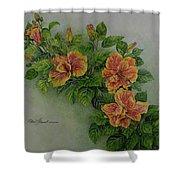 Hybrid Hibiscus Shower Curtain