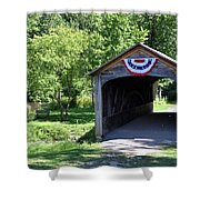 Hyde Hall Covered Bridge Shower Curtain