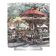 Hyde Park Market Plein Air Shower Curtain