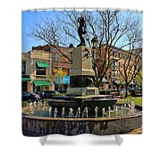 Hyde Park Square  4183 Shower Curtain