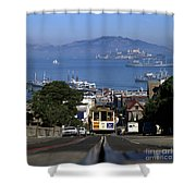 Hyde Street Cable Car 1978 Shower Curtain