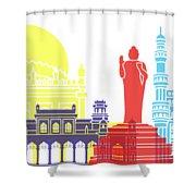 Hyderabad Skyline Pop Shower Curtain