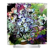 Hydrangea Abstract Shower Curtain