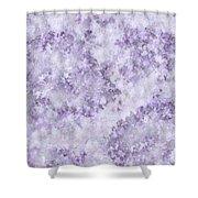 Hydrangea Digital In Lilac Shower Curtain
