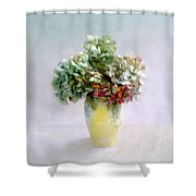 Hydrangeas In Autumn Still Life Shower Curtain