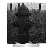Hydrant Shower Curtain