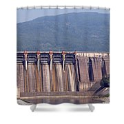 Hydroelectric Power Plants On River Shower Curtain