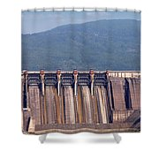 Hydroelectric Power Plants On River Industry Shower Curtain