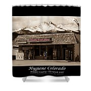 Hygiene Colorado Bw Fine Art Photography Print Shower Curtain