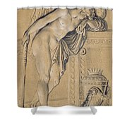 Hymen Mourning Shower Curtain