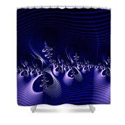Hypnotique Blue Shower Curtain