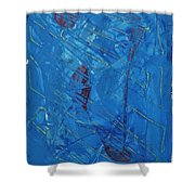 Hypothetical Particles Shower Curtain
