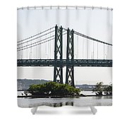 I-74 Bridge Shower Curtain