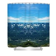 I-90 Corridor Reflection Shower Curtain