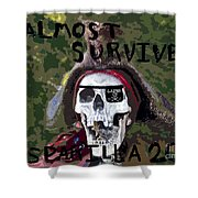 I Almost Survived Shower Curtain by David Lee Thompson