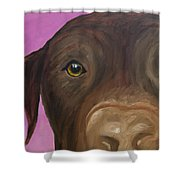 I Am Being Really Good Shower Curtain