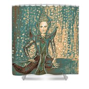 I Am Siamese In Teal Shower Curtain