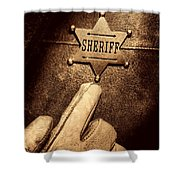 I Am The Law Shower Curtain