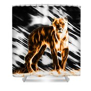 I Am The Lioness Shower Curtain