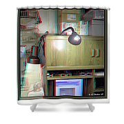 I C The Light - Use Red-cyan 3d Glasses Shower Curtain