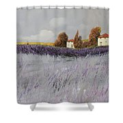 I Campi Di Lavanda Shower Curtain by Guido Borelli