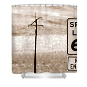 I Can't Drive 55 Shower Curtain
