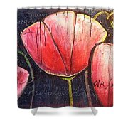 I Choose To Live A Life Of Purpose Poppies Shower Curtain