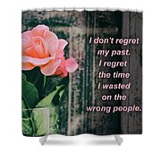 I Do Not Regret My Past. I Regret The Time I Wasted On The Wrong Shower Curtain
