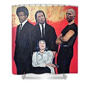 I Don't Smile For Pictures Shower Curtain by Tom Roderick