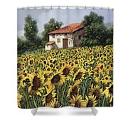 I Girasoli Nel Campo Shower Curtain