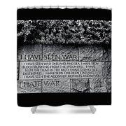 I Hate War Shower Curtain