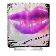 I Heart Makeup Shower Curtain
