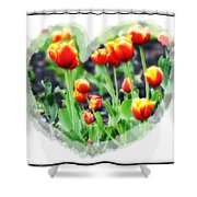 I Heart Tulips Shower Curtain