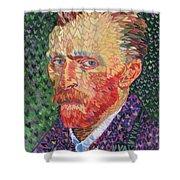 I Heart Van Gogh Portrait Of Vincent Shower Curtain