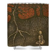 I In Night Think About You Shower Curtain